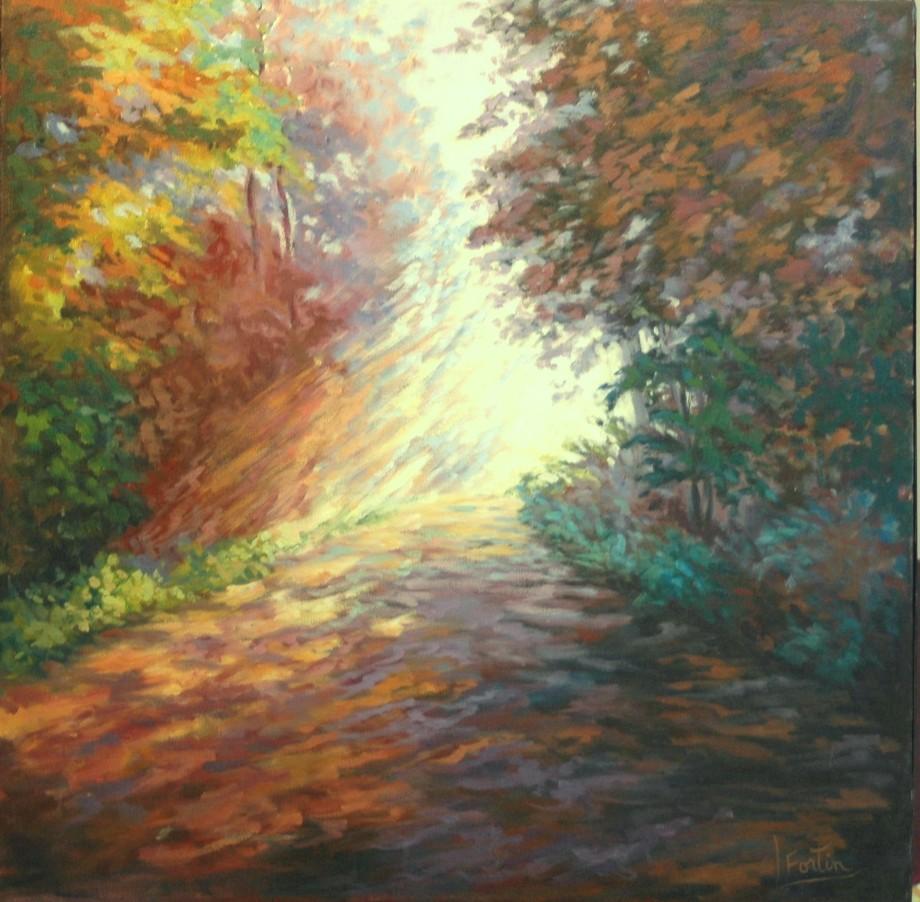 LF 800 Lumière à l'horizon Huile sur toile 20 x 20